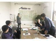 韩国客户朋友来竞博电竞下载公司参观考察学习交流无烟环保技术